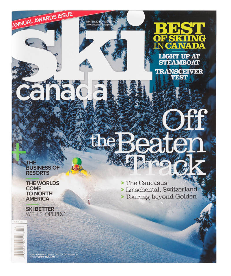 We made the front cover of Ski Canada Magazine!