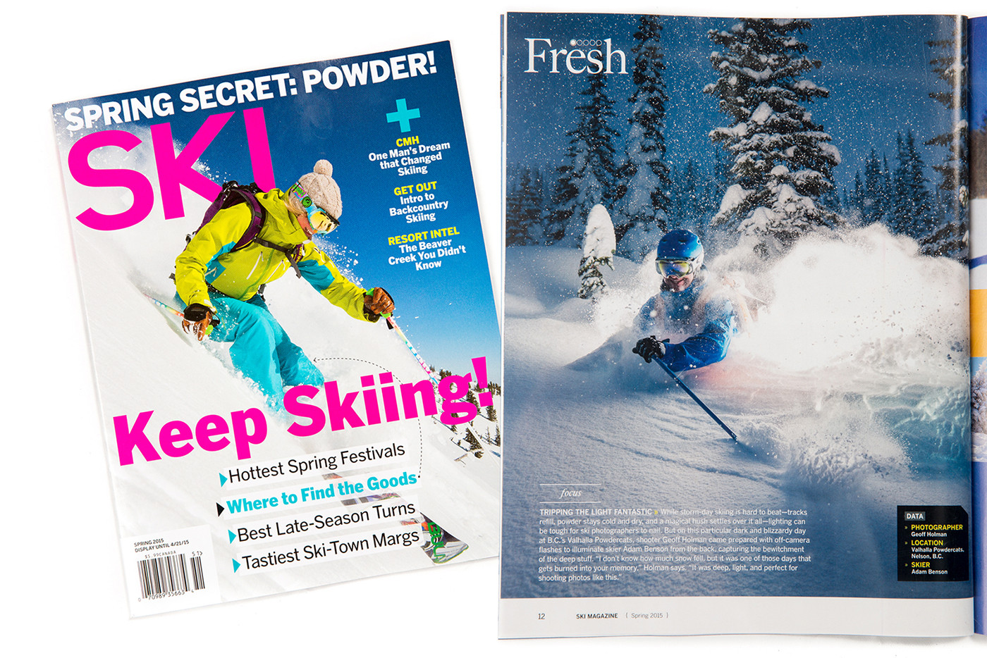 A Full Page Full of Powder in SKI Magazine!
